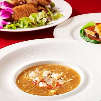 【スパークリング付】フカヒレ煮込み・大海老料理・牛フィレ肉炒めなど 紫陽花コース 全7品