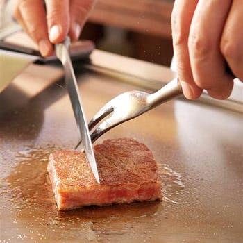 【鉄板焼ランチ】鉄板焼カウンター お席のみプラン 「お料理内容は当日に」