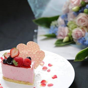 【一休限定!お祝いランチ】ホールケーキ付きお祝いプラン