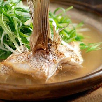 【鯛柚子鍋膳】 朱盃十五点膳、柚子雑炊に鯛しゃぶ付を付けて 6,696円