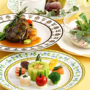 平日「早割!」10日前の予約でお得!前菜、魚、肉、デザートダブルメイン全4品選べるプリフィックスコース