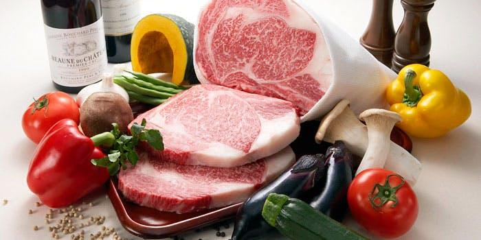 焼き野菜とお肉の写真
