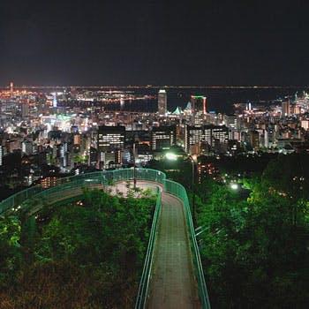 【神戸の夜景スポットをタクシーで鑑賞】乾杯シャンパン付!淡路島直送の鮮魚、特選牛フィレ肉など全6品!