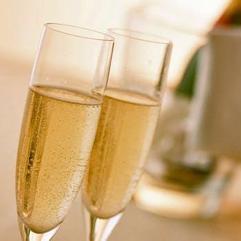 【接待におすすめ】乾杯スパークリングワイン付コース料理6品&充実のフリードリンク ビジネス会食プラン
