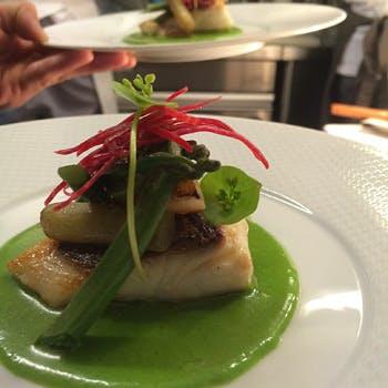 【Menu Provancal】食前酒付!銀座のお洒落なレストランで、前菜や肉&魚のWメイン等、豪華フルコース全6品