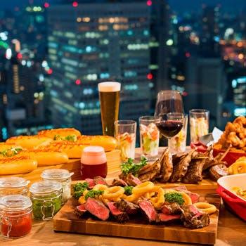 【一休限定】 最上階から見渡す夜景と乾杯スパークリングワイン、4種飲み放題付パーティープラン 6,000円