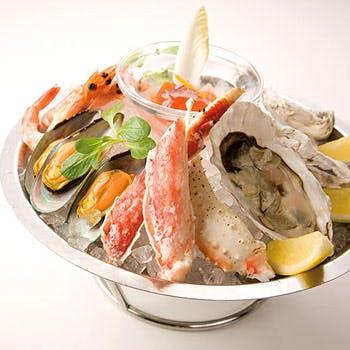 【タイムセール】スパークリング含む3時間飲み放題!シーフードプラッターや選べる魚貝料理など全6品