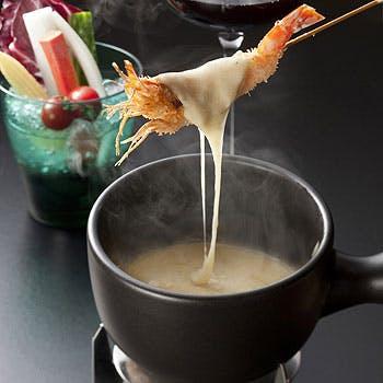 【お待たせしました】スイスチーズフォンデュコース。選べる乾杯ドリンク付き 11,524円→9,000円!!