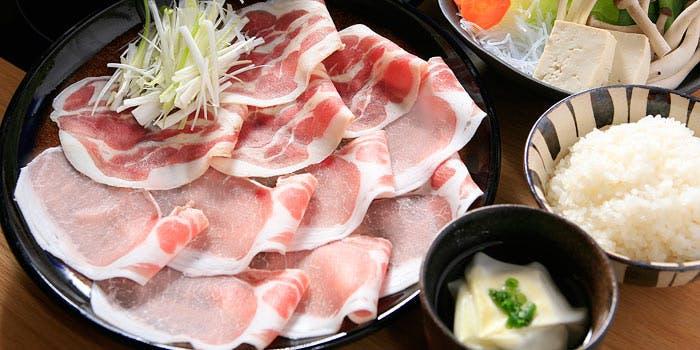 銀座しゃぶ通の豚しゃぶと白米