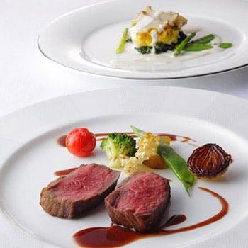 【デジュネA】豊かな感性で創造された美食のランチ!前菜、スープ、魚料理、肉料理、デザートなど全6品