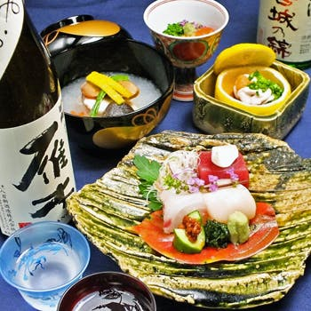 【冬の味覚】赤むつ炙り、ローストビーフ、アラ酒蒸し、鰆、土鍋で新米!全10品の味覚1ドリンク付9800円!