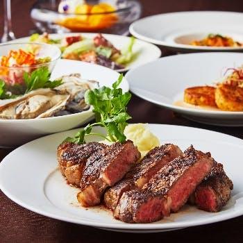 【乾杯酒付】XEX Steak! リブロースステーキ&シーフードを贅沢に!XEXおすすめコース<イタリアン>