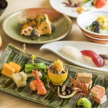 【平日×個室確約】期間限定 乾杯スパーク付!旬の前菜7種,旬魚や握り寿司,手打ち蕎麦等季節を感じる全7品