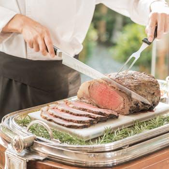 【食後のカフェフリー】メインは、ホテル自慢 塩釜で旨味を凝縮したローストビーフ! 通常3,500円→2,500円