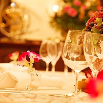 【一休限定】記念日にも!フルコースディナーに乾杯Gスパーク&2時間飲み放題付!通常 14,137円→7,500円