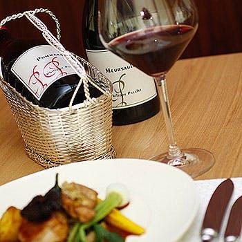 【タイムセール】スパークリングor赤or白ワインフルボトル1本付フルコースディナー