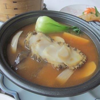 【選べる1ドリンク付】あわびの鶏白湯煮込みや3種蒸し点心をお楽しみいただく特別御膳