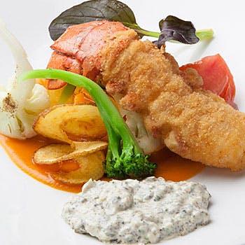 【神戸ビストロ洋食】前菜+スープ+牛フィレなど選べるメイン+デザート全4品!<ランチセットB>