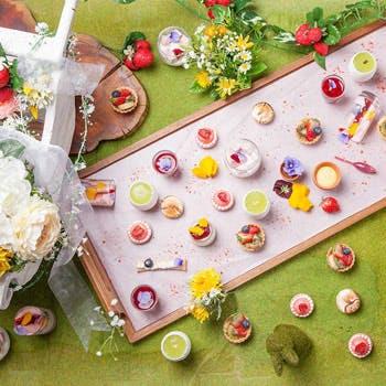 【初夏限定】ナイトデザートブッフェ!乾杯スパークリング付!約20種のスイーツ&約10種の料理を堪能!平日