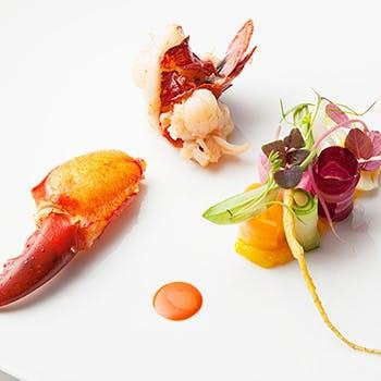 【一休限定】ムニュ・アッシュ・オマール!前菜4皿+オマール海老+魚料理+肉料理+デザートなど全10品!