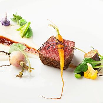 【一休限定】アペリティフ付!メインは魚料理&肉料理両方を!前菜からデザートまでの全6品フルコース