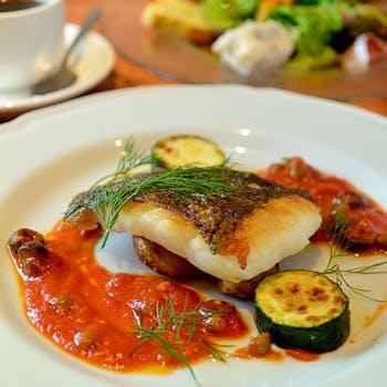 【乾杯スパークリング付】前菜盛り合わせ、ドルチェ、メインは自慢の魚料理を堪能!カジュアルランチコース