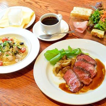 【乾杯スパークリング付】渋谷駅近のトラットリア!パスタ&アンガス牛ステーキを愉しむ贅沢ランチコース!