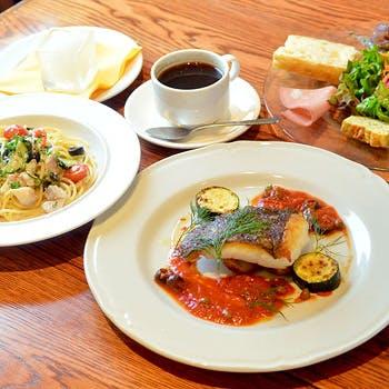 【乾杯スパークリング付】渋谷駅近のトラットリア!パスタ&メインの魚料理を愉しむ贅沢ランチコース!