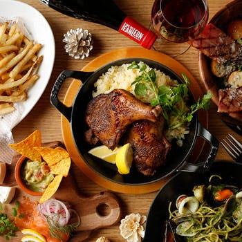 【歓送迎会6,000円】団体特典付!飲み放題2H&サラダやお肉料理等全8品