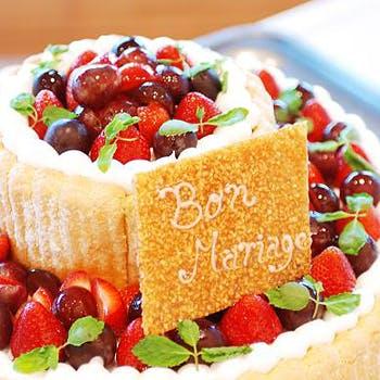 【記念日】乾杯シャンパン&ホールケーキ付!厳選された旬の食材…