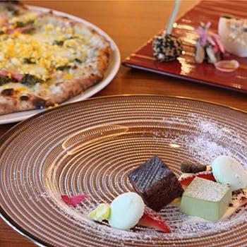 【期間限定バレンタインデザート】春先取りピッツァとパティシエ特製チョコなどデザートは盛り合せで