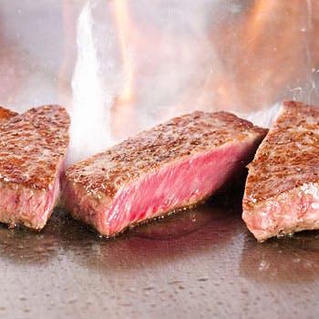 【ステーキメイン】ステーキの重量を増やせるコース 熟成黒毛和牛 肉尽くしディナーコース 全12品