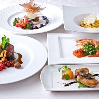【乾杯スパークリング付】前菜・パスタ・魚&肉のWメイン・デザートなど厳選食材で贈るフルコース全7皿