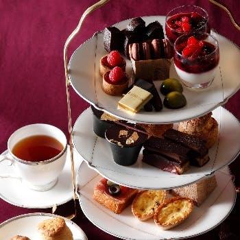 【土日祝限定】<チョコレートアフタヌーンティー>マカロン、タルトもチョコづくし!…