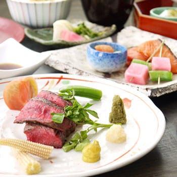 【丸ビルプレミアムレストラン】選べる1ドリンク付!お造り・焼八寸・強肴(メイン)を含む会席 全8品