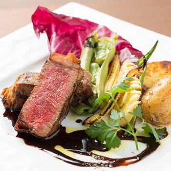 【乾杯スパークリング付】魚料理&メインは特選黒毛和牛フィレをご堪能!旬の食材を使用した豪華全6品