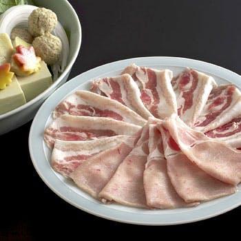 【個室確約】プラチナポーク「白金豚」をこだわりの出汁で楽しむしゃぶしゃぶ会席 全8品【京コース】