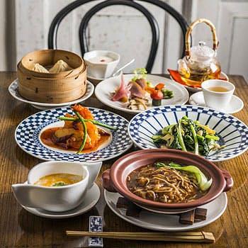 1ドリンク付!北京ダック&ほぐしフカヒレ麺など「青百合コース」全7品!特別料金3,500円