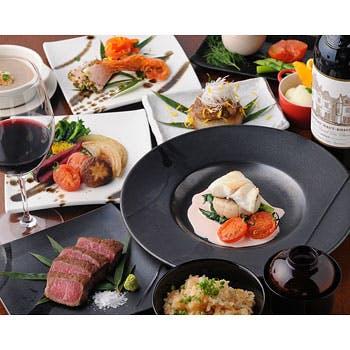 【料理のみ】天然車海老、北海道産鮑、熟成和牛ランプ、短角和牛フィレ、最高峰和牛フィレ 贅沢づくし全8品