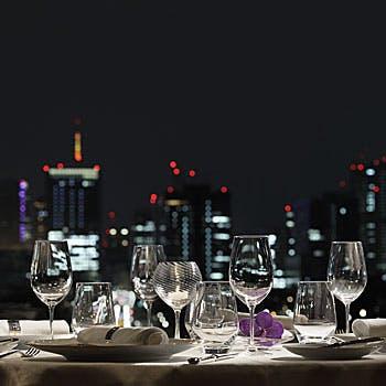 【ディナー】魚・肉料理を含む全8品+食後のカフェ&小菓子!都会の夜景を眺めながら 〜Esprit〜