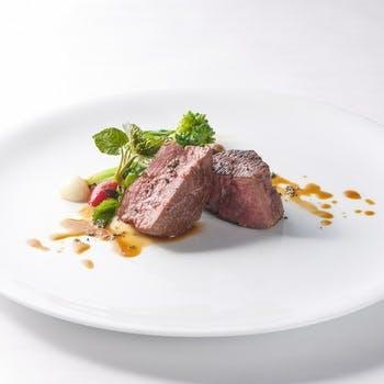 【個室選択可】若姫牛フィレ肉とオマール海老、北海ホタテ含む極上プラン全8品 3h飲み放題