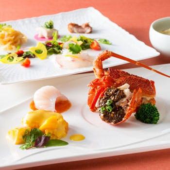 【開業25周年記念】メインは3種の海老料理!イセエビやふかひれにホテルパティシエのデザートなど全6品!