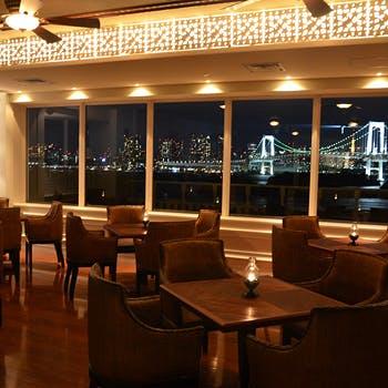 【スパークリング付】東京湾・レインボーブリッジが臨めるリゾート空間で!全5品