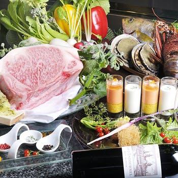 世界三大珍味に加え、鮑・ロブスター・A5等級黒毛和牛。最高級食材を集めた鉄板フルコース「極(きわみ)」