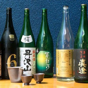 【3時間飲み放題付】獺祭など希少な日本酒約8種やスパークリングも堪能!旬のお造り、蟹、白子など旬の9品