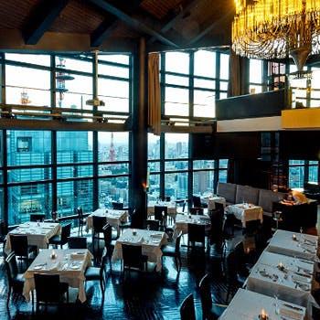 【一休限定】2ドリンク付き 魚料理&肉料理のWメインを41階の絶景とともに