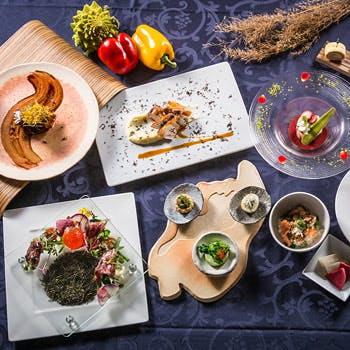 【恵り】滋賀の厳選食材・自然の恵みを使用した渾身のディナーコース全8品 〜琵琶湖の美しい風景と共に〜
