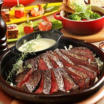 【忘新年会】満腹!王道!2種の厳選国産牛ステーキコース【女子会】