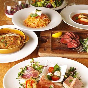 【2名からご予約可能】乾杯スパークリング付!和牛煮込みのカネロニ、濃厚魚介スープ、USビーフなど全7品