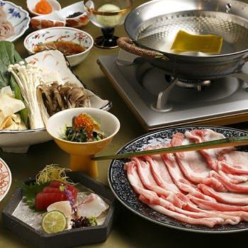 【一休限定】薬膳 豚しゃぶしゃぶを堪能!お造り+デザートなど全5品フルコース!通常4,320円→4,000円